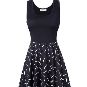 Rockabilly mod a-line dress black tank top